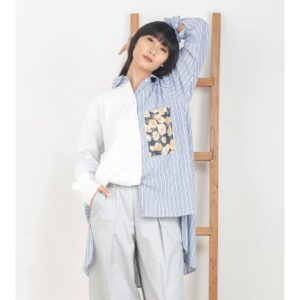 Rena Top Blue Stripe